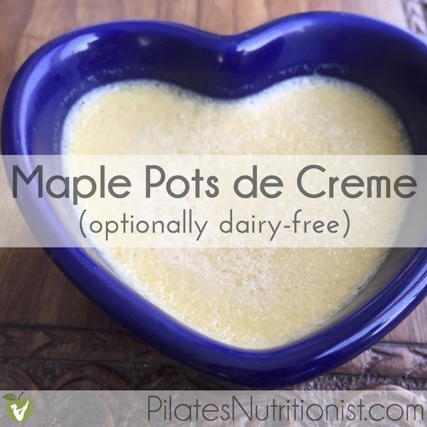 Maple Pots de Creme
