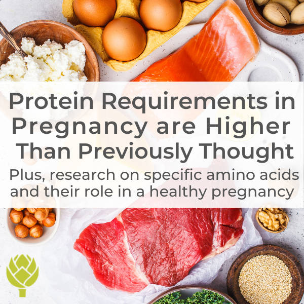 Protein Requirements in Pregnancy are Higher Than Previously Thought